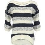 Modrobílý pruhovaný svetr Vero Moda Amago s 3/4 rukávem