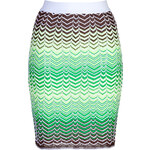 M Missoni Zigzag Knit Pencil Skirt