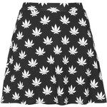 Topshop **Leafy Print Circle Skirt by Illustrated People