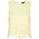 Topshop 3D Crochet Floral Shell Top