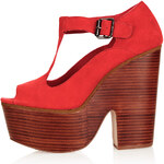 Topshop SWIRLY T-Bar Platform Shoes