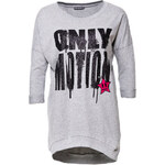 Terranova Maxi sweatshirt with glitter writing