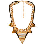 Forever 21 Statement Spiked Bib Necklace