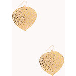 Forever 21 Cutout Leaf Drop Earrings