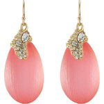 Alexis Bittar Gold Plated Earrings with Lucite and Crystals