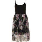 Topshop Dark Flower Tulle Dress
