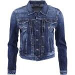 Tmavě modrá džínová bunda s výrazným lemováním Pepe Jeans Mikas