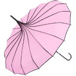 Růžový pagoda deštník s puntíky Blooming Brollies