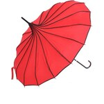 Červený pagoda deštník s puntíky Blooming Brollies