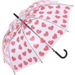 Transparentní deštník se srdíčky Blooming Brollies