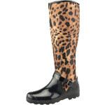 Gioseppo holiny kozačky černé/leopard
