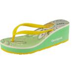 Desigual pantofle žlutá/zelená
