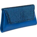 Italské kabelky a peněženky Michael Valentino dámské psaníčko modré
