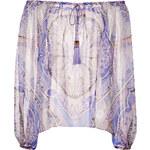 Emilio Pucci Silk Print Carmen-Style Top