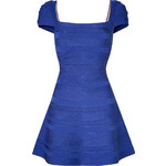 Hervé Léger Cap Sleeve Bandage Dress