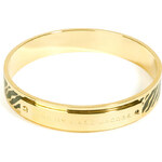 Marc by Marc Jacobs Zebra Print Enamel Logo Bangle
