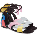 Pierre Hardy Color Block Leather Sandals