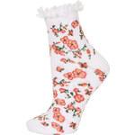 Topshop White Spring Rose Lace Trim Socks