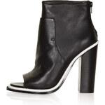 Topshop POUNCE Premium Peep Toe Boots
