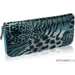 LS fashion Dámská modro-zelená peněženka se zvířecím potiskem