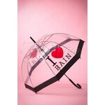 So Rainy 50s I love Rain Transparent Dome Umbrella