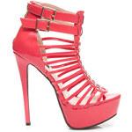 SERGIO TODZI Perfektní melounové vysoké dámské sandály - RMD1273WR / S3-96P
