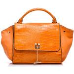 VICES Klasická oranžová kabelka se zvířecím vzorem - GG4-36OR