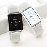 Lesara Damen-Luxus-Armbanduhr - Silber-Schwarz
