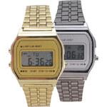 Lesara Retro-Digital-Armbanduhr - Silber