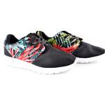 Lesara Damen-Sneaker mit Blumen-Muster - Mehrfarbig - 36