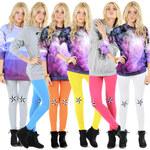 Lesara Leggings mit Sternen - Blau