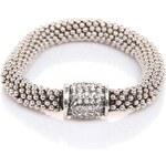 Lesara Goldfarbenes Armband mit Glaskristallen - Silver