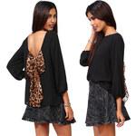 Lesara Damen-Bluse mit Schleife - M