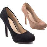 Lesara Pumps in Velours-Optik - Schwarz - 35