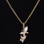 Lesara Glieder-Halskette mit Schmetterling-Anhänger