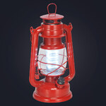 Lesara LED-Sturmlaterne Rot