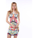 Lesara Damen-Kleid mit Blumenprint - Mehrfarbig - S