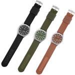 Lesara Militär-Uhr mit Stoffband - Grün