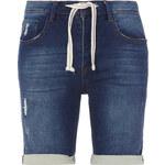 Lesara Bermuda Sweathose in Jeans-Optik - 31