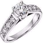Zásnubní prsten z bílého zlata s diamanty
