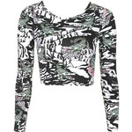 Topshop **Snappy Long Sleeve Crop Top by Illustrated People