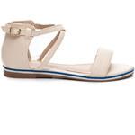 SUPER MODE Béžové jednoduché dámské sandály - 50194BE / S1-35P