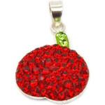 Lesara Halsketten-Anhänger Apfel aus 925er Silber