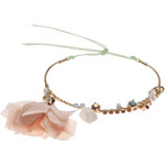 Topshop **Wrap Fabric Flower Bracelet by Orelia