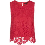 Topshop 3D Lace Crochet Shell Top
