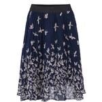 Tmavě modrá sukně s ptáčky Kling Lavagna