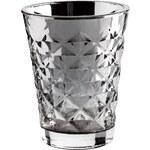 Tine K Home Svícen Facet glass Silver 10 cm