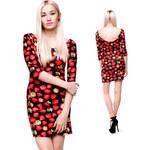 Lesara Damen-Mini-Kleid mit Erdbeer-Print