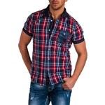 Pánská kostkovaná košile CARISMA / červená 9066-R