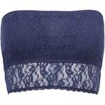 Tmavě modrá krajková podprsenka Pieces Lace